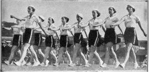 Marching girls 1935