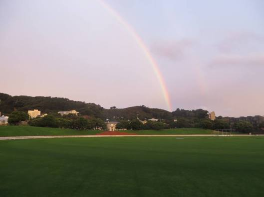 Basin Reserve rainbow. Photo: Patrick Morgan.